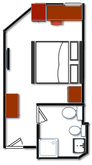 white room plan - double