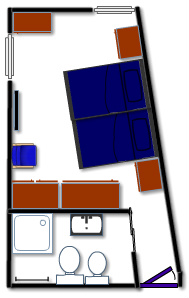 blue room plan - twin room