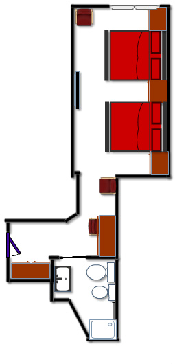 red room plan - family room